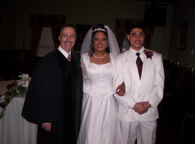 wed,spanish priest, judge, justice peace, officiant, atl, bride, groom, minis rev